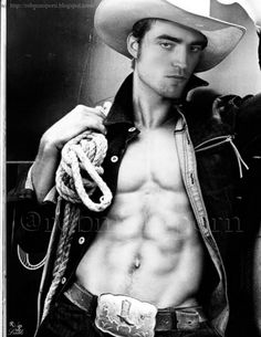 My two favorite things all in one picture. Hot Cowboys and Robert!