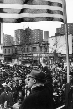 Malcolm X Addressing the Black Muslim Rally (New York City 1963) - Picture From The Gordon Parks Collection
