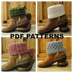 PDF PATTERNS Knit Boot Cuff Leg Warmer 4 by karensstitchnitch, $14.00 - Wishlist
