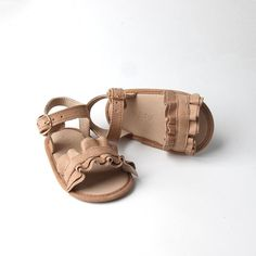 Baby, toddler & girls summer cream sandal Brown Sandals, Daphne Shoes, Sunglasses Online, Buy Shoes, Baby Accessories, Suede Shoes, Sadie, Toddler Girls