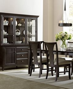 Edgewater Dining Room Furniture Collection // macys furniture, maybe too contemporary? nice clean lines.