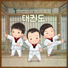 Taekwondo  #FanArt #Taekwondo #DaehanMingukManse #Daehan #송대한 #Minguk #송민국 #Manse #송만세 #SongTriplets #SongBrothers #TheReturnOfSuperman #Triplets