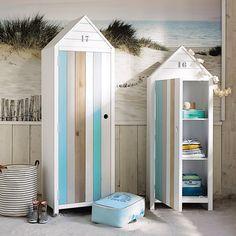 Armadio cabina da spiaggia bianco in legno L 60 cm Océan   Maisons du Monde