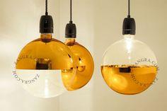 LED light bulb 'XXL mirror crown' gold
