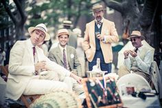 Gentlemen at Annual Jazz Age Lawn Party, Governors Island, New York.