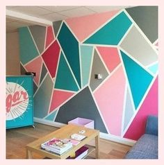 34 Wall painting Ideas for Living Room – Living Room Cozy . 34 Wall painting I Girls Room Paint, Girl Bedroom Walls, Accent Wall Bedroom, Bedroom Kids, Girls Bedroom Ideas Paint, Trendy Bedroom, Bedrooms With Accent Walls, Diy Bedroom, Teal Teen Bedrooms