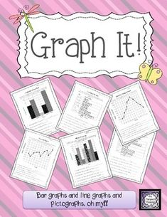 Graph It! {Bar Graphs and Line Graphs and Pictographs, oh my!} This pack is full of printable worksheets to help your students practice creating and interpreting graphs! {Common Core Aligned Grades 2-4}