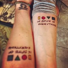 In spite of everything… | 18 Sibling Tattoos You'll Want To Share With Your Brother And Sister
