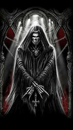 WALLPAPERS - Gothic, skulls, death, fantasy, erotic and animals: death Grim Reaper Art, Grim Reaper Tattoo, Don't Fear The Reaper, Beautiful Dark Art, Heavy Metal Art, Horsemen Of The Apocalypse, Skull Pictures, Skull Artwork, Dark Angels