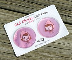 tonymoly cheek patches~ I have rosy cheeks so I bet these would help calm them a bit >__< they're especially so pink in the cold winter!