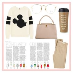 """""""Untitled #21"""" by aleksaroyus on Polyvore featuring AG Adriano Goldschmied, Uniqlo, Louis Vuitton, Kate Spade and Ray-Ban"""