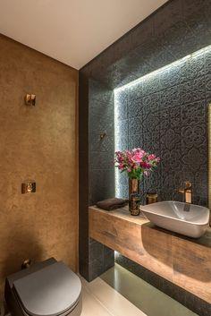 Navegue por fotos de Banheiros modernos: Projeto DSC. Veja fotos com as melhores ideias e inspirações para criar uma casa perfeita.