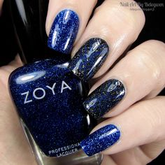 Nail Art by Belegwen: Zoya Dream, Dance Legend Gothic Veil and OPI DS Fantasy