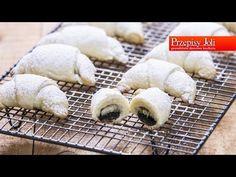 ROGALIKI JOGURTOWE 3-SKŁADNIKOWE (z czekoladą i bananami) - pyszne, domowe, kruche rogaliki :) Bardzo proste i szybkie w przygotowaniu :) Lamb, Baking, Youtube, Bakken, Backen, Youtubers, Sweets, Youtube Movies, Baby Sheep