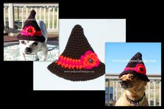 Posh Pooch Designs Dog Clothes: Little Witch Hat Crochet Pattern