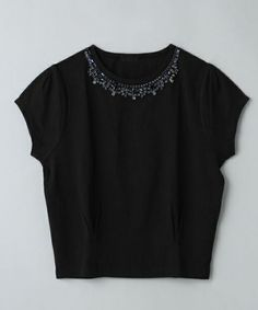 JEANASIS(ジーナシス)の【再入荷】タックビジュープルオーバーSS/(Tシャツ/カットソー) ブラック