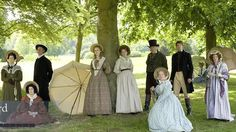 Cranford (1st series) - this is really great and is made especially funny and entertaining by Imelda Staunton's character Ms. Pole. :-)