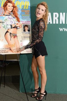 """hot-miniskirts: """"Bella Thorne and her slim sexy legs in a mini dress. Check out more beautiful ladies at http://hotminiskirts.oohlala.club """" I ❤️ her cute mini skirt and high heels, she has long beautiful legs #hothighheelslegs #highheelslegs"""