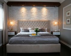 Great Stone Master Bedroom – modern – Bedroom – Toronto – Paul Lafrance Design The post Refreshing Master Bedroom Design Ideas for Renovation or Building appeared first on Interior Designs . Small Bedroom Designs, Modern Bedroom Decor, Master Bedroom Design, Bedroom Ideas, Modern Bedrooms, Small Bedrooms, Trendy Bedroom, Bedroom Colors, Bedroom Ceiling