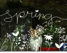 Ara Spring chalk pens Spring chalk pens Keeping The Weeds Out - A Must! Chalk Pens, Chalk Markers, Chalk Art, Spring Drawing, Spring Art, Chalkboard Designs, Chalkboard Art, Spring Window Display, Chalk Writing