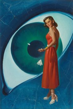 HAROLD W. McCAULEY - art for Eye of the Temptress by Rog Phillips - March 1951 Other Worlds Science Stories