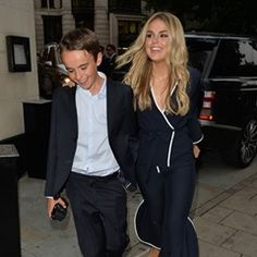 Tallia Storm brings her little brother Johnnie along to the Dorchester Hotel in London