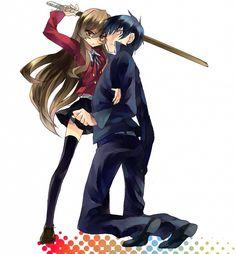 Tags: Anime, Toradora!, Kneeling, Takasu Ryuuji, Aisaka Taiga, Abaraya