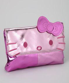 Hello Kitty Pink Metallic Colorblock Clutch