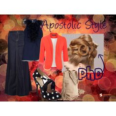 I <3 Navy and Coral :D APOSTOLIC STYLE, created by emmyholloway on Polyvore