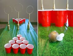 Harry Potter Wedding Shower - Quidditch Pong - DolledUpDesign