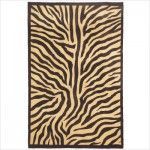$191.00  Novelty Hand Stencilled Jute Zebra Contemporary Rug - 3006974X