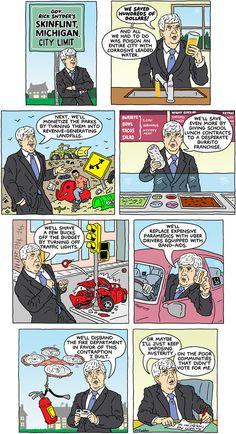 Cartoon: Gov. Rick Snyder's skinflint, Michigan