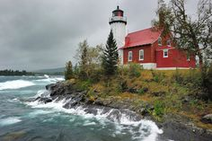 """Gloomy Gales"" Eagle Harbor Lighthouse - Eagle Harbor , Michigan by Michigan Nut on Flickr."