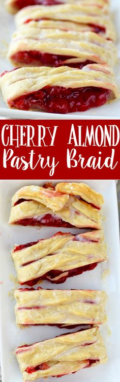 This Cherry Almond Braid is easy and SO delicious! The perfect pastry! Complete with a video tutorial.:
