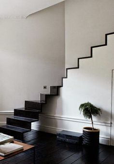 Black graphic stairs by Andreas Martin Lof