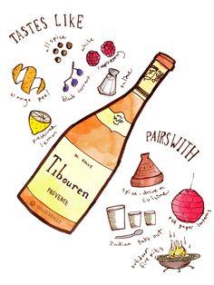 Tibouren rosé wine taste profile illustration by Wine Folly