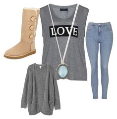 Lazy Day by annemarie-schuyt on Polyvore featuring polyvore fashion style Carmakoma Monki Topshop UGG Australia Armenta women's clothing women's fashion women female woman misses juniors