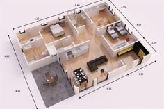 TOKIO DONACASA 120m2, Hormigón celular con trasdosado tejado plano