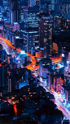 Pastel City Blue Red Night Nature #iPhone #6 #wallpaper