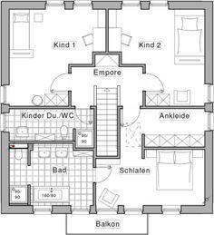 Obergeschoss Plusenergiehaus Life, designed by Jette Joop