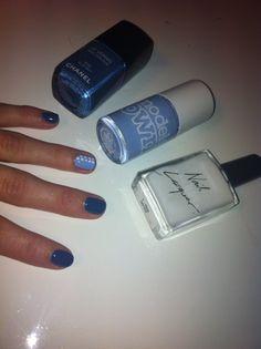 American Apparel TShirt Chanel Blue Boy and Models Own Beth's Blue