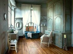 <3 turquoise, rustic, French <3