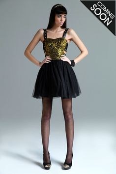 Boutique Lexie Embroidered Stud Side Straps Tutu Dress at boohoo.com
