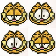 Garfield perler beads by an.co.chan