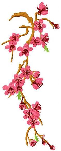 Sakura free embroidery design - Flowers free machine embroidery designs - Machine embroidery community