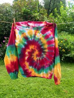 Custom made rasta tie dye crewneck sweatshirts $34.50 available in tons of color combos! https://www.etsy.com/listing/243967636/rasta-tie-dye-sweatshirt-size-large-tie