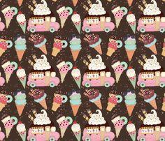 Ice Cream 023 fabric by koko_bun on Spoonflower - custom fabric My Design, Custom Design, Creative Business, Custom Fabric, Spoonflower, Fabric Design, Craft Projects, Fabrics, Ice Cream