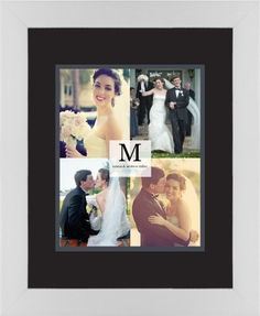 Classic Initial Framed Print, White, Contemporary, Black, Black, Single piece, 8 x 10 inches, Grey