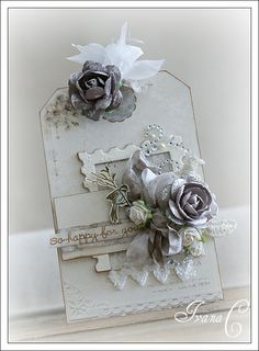 Tim Holtz pine cone die made into rose  subtle and gorgeous