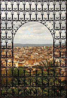 Old Fes ( Fes al-bali ) through a window